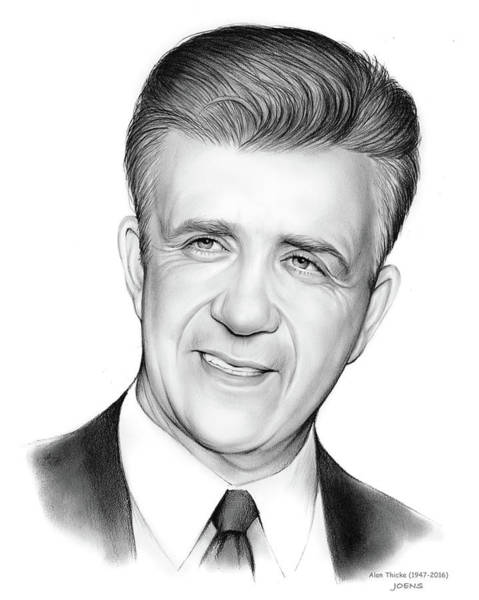 Jason Wall Art - Drawing - Alan Thicke 1947-2016 by Greg Joens