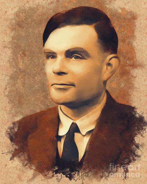 Poetry Painting - Alan Turing, Scientist by Mary Bassett