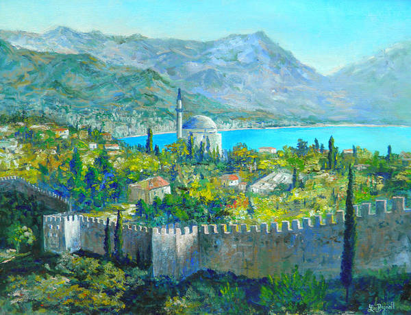 Wall Art - Painting - Alanya Turkey by Lou Ann Bagnall