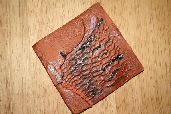 Ceramic Art - Alarm - Tile by Gloria Ssali