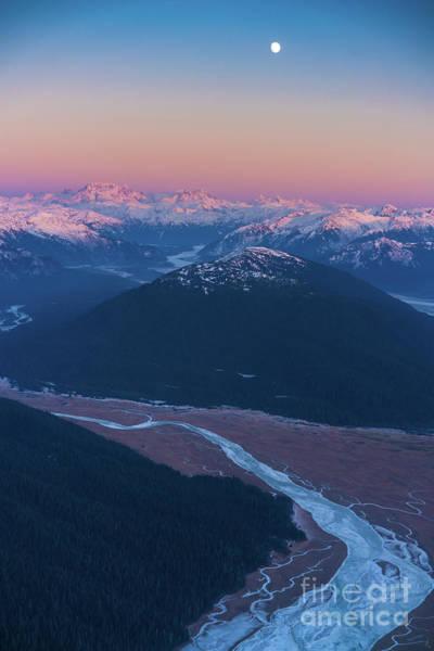Petersburg Photograph - Alaska Aerial Stikine River Ice Flows by Mike Reid
