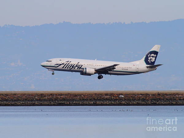 Wall Art - Photograph - Alaska Airlines Jet Airplane At San Francisco International Airport Sfo . 7d12232 by Wingsdomain Art and Photography