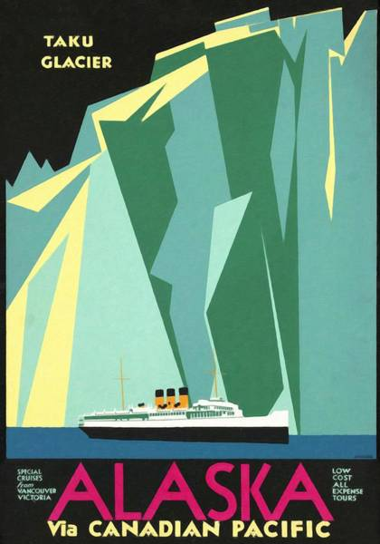 Vancouver Mixed Media - Alaska Canadian Pacific - Vintage Poster Restored by Vintage Advertising Posters