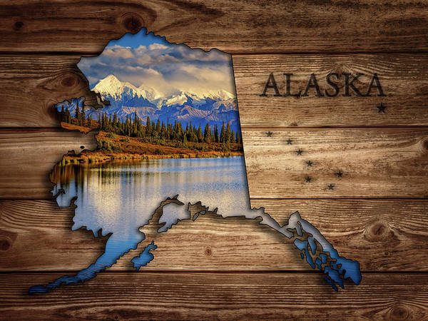 Wall Art - Photograph - Alaska Map Collage by Rick Berk