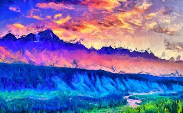 Digital Art - Alaska Mountains by Caito Junqueira