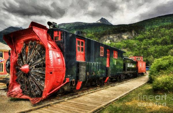 Photograph - Alaska Snow Train by Mel Steinhauer
