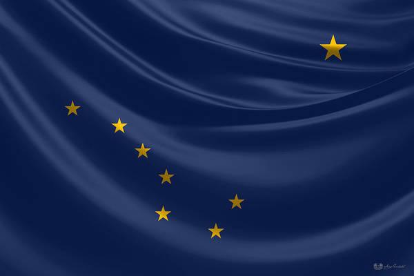 Digital Art - Alaska State Flag by Serge Averbukh