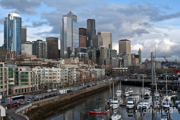 Elliott Photograph - Alaska Way Seattle Skyline by Mike Reid
