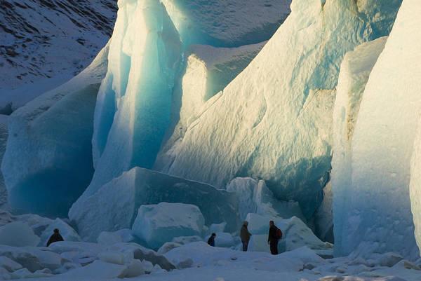 Photograph - Alaskan Glacier Last Rays Of Light by Yulia Kazansky