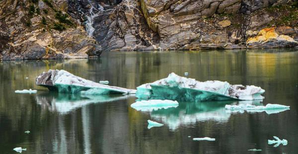Alaskan Icebergs Art Print