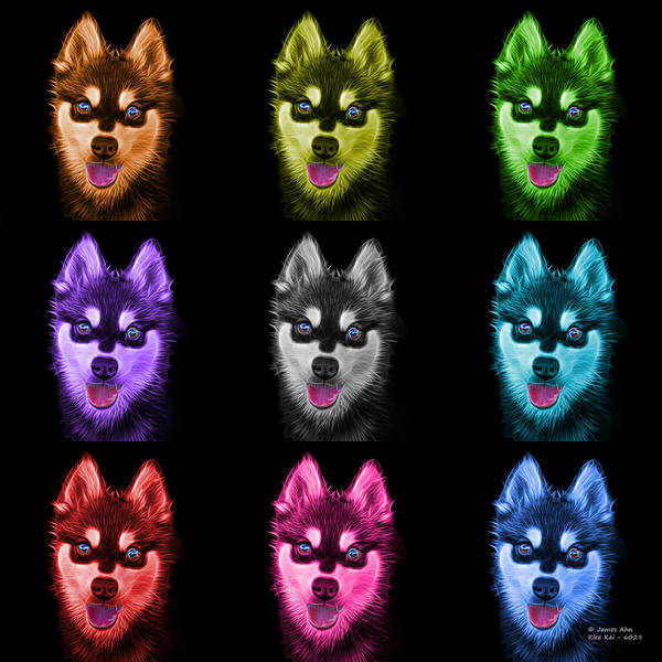 Painting - Alaskan Klee Kai - 6029 -bb - M by James Ahn