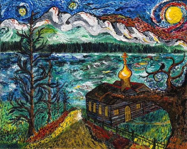 Impressionist Style Wall Art - Painting - Alaskan Orthodox Church by Arnold Bernstein