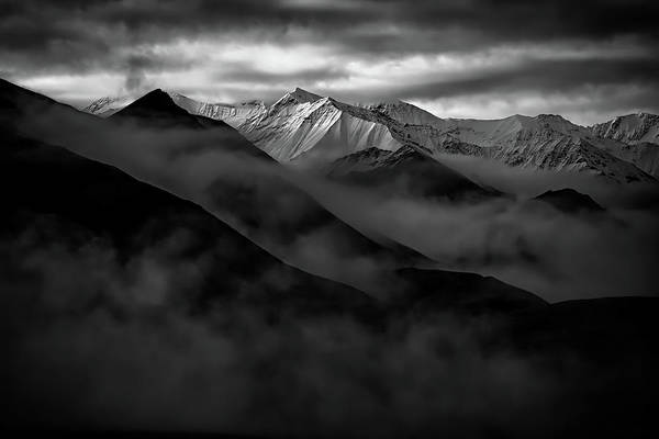 Frontier Photograph - Alaskan Peak In The Shadows by Rick Berk