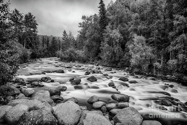 Photograph - Alaskan Stream In Black And White by Paul Quinn