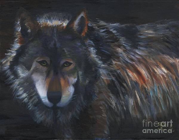 Wall Art - Painting - Alaskan Wolf by Gloria Condon