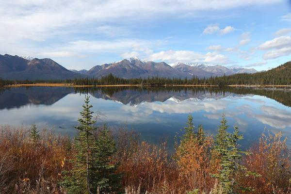 Photograph - Reflections At Alaska's Mentasta Lake by Steve Wolfe