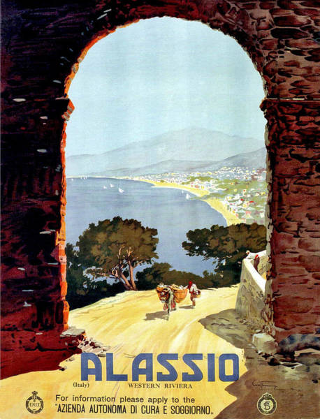 Wall Art - Painting - Alassio, View From The Gate by Long Shot