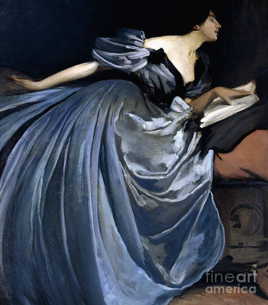 Blue Dress Painting - Alathea by John White Alexander