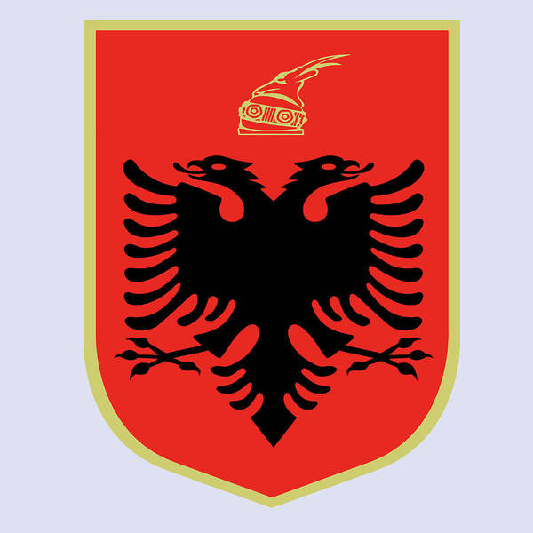 Drawing - Albania Coat Of Arms by Movie Poster Prints