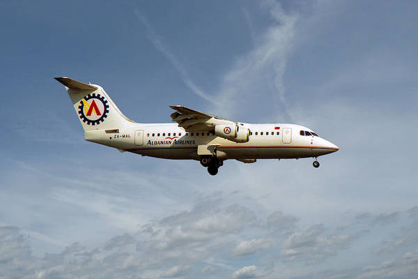 200 Photograph - Albanian Airlines British Aerospace 146-200 by Smart Aviation