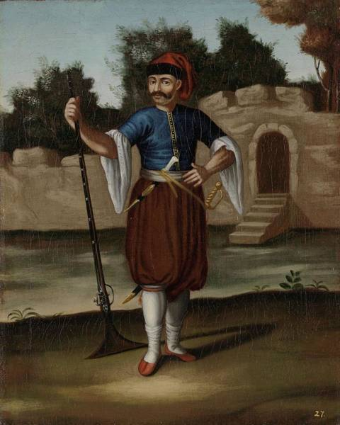 Painting - Albanian Soldier by Celestial Images