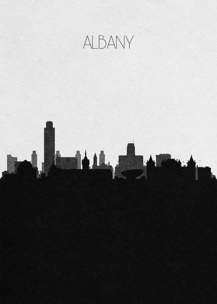 Souvenir Digital Art - Albany Cityscape Art by Inspirowl Design