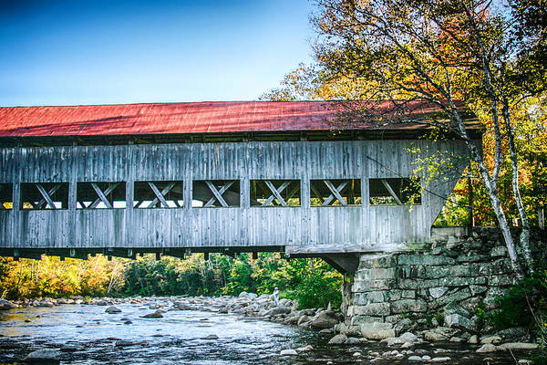 Photograph - Albany Covered Bridge In Autumn by Jeff Folger