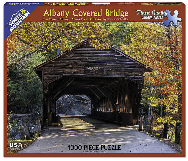 Wall Art - Photograph - Albany Covered Bridge Jigsaw Puzzle by T-S Fine Art Landscape Photography