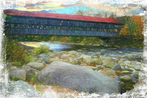 Albany Covered Bridge Nh. Art Print