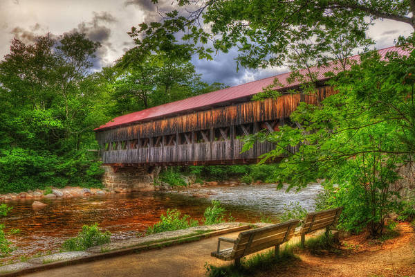 Photograph - Albany Covered Bridge - White Mountains Nh by Joann Vitali