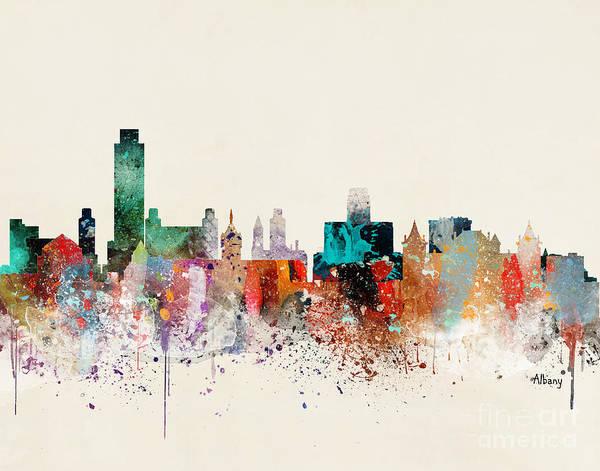 Albany New York Skyline Art Print