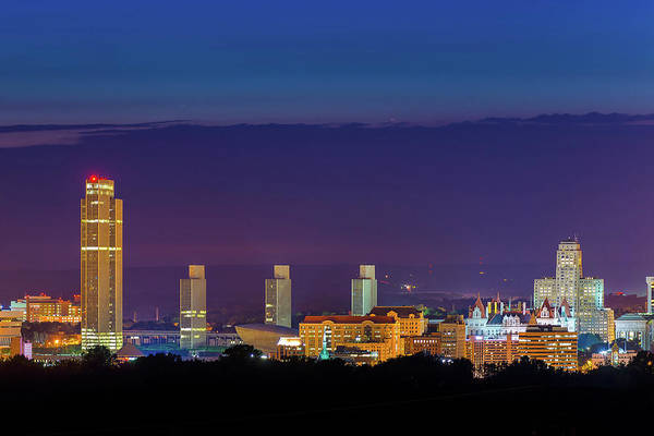 Photograph - Albany Skyline Twilight by Neil Shapiro