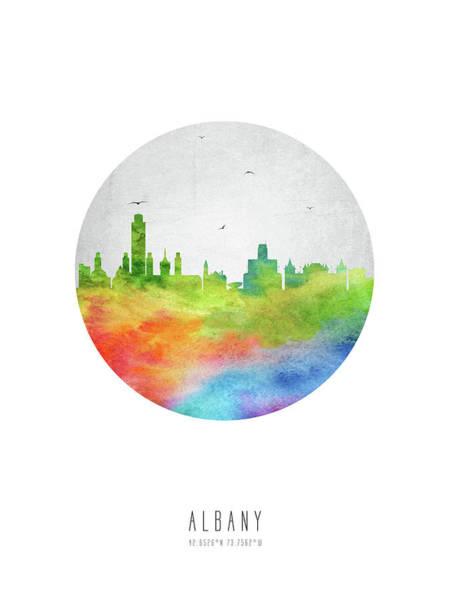 Wall Art - Digital Art - Albany Skyline Usnyal20 by Aged Pixel