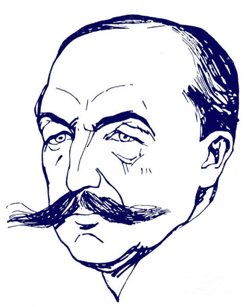 Wall Art - Drawing - Albert Carre Caricature by A Delannoy