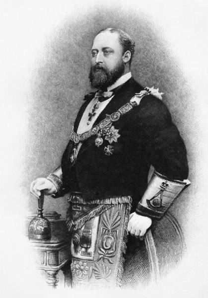 Wales Drawing - Albert Edward Prince Of Wales Duke Of by Vintage Design Pics