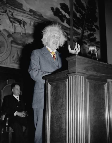 Photograph - Albert Einstein by Andrew Fare