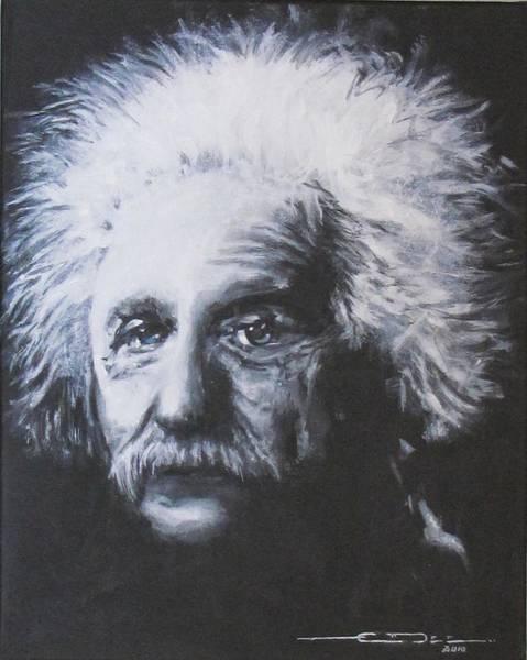 Painting - Albert Einstein by Eric Dee
