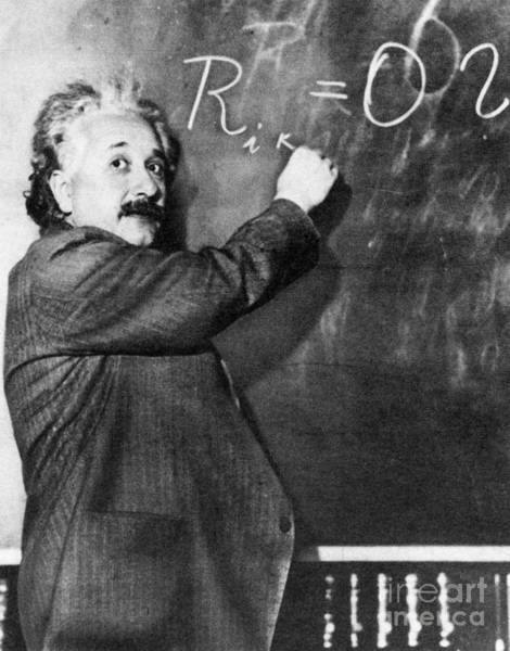 Equation Wall Art - Photograph - Albert Einstein by Photo Researchers