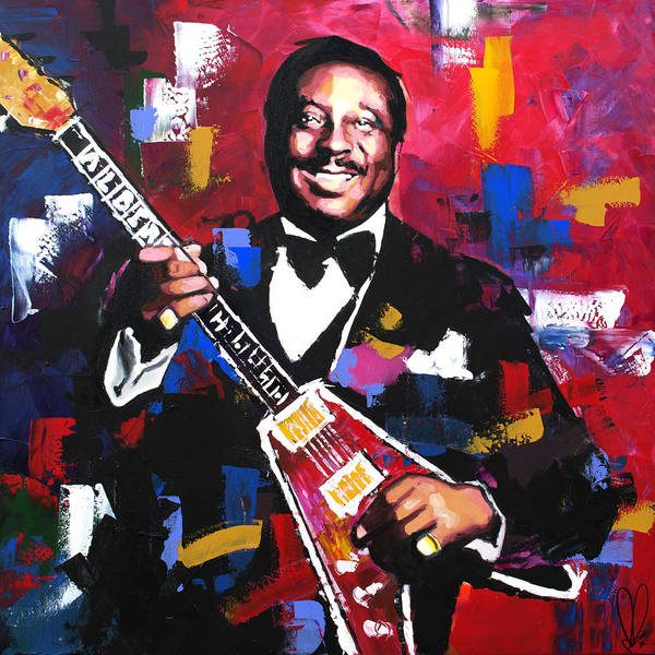 Live Music Painting - Albert King  by Richard Day