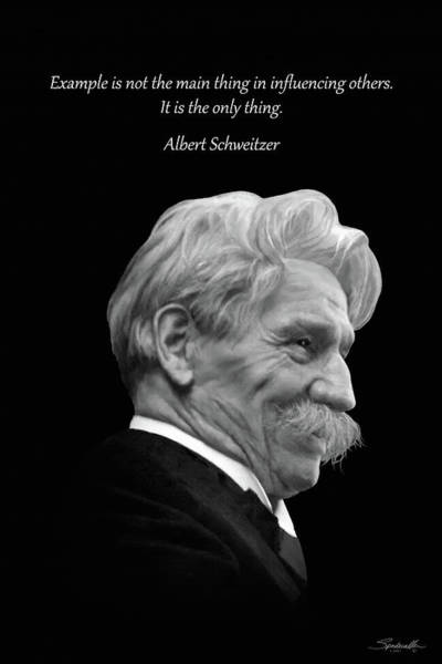Digital Art - Albert Schweitzer Portrait by M Spadecaller