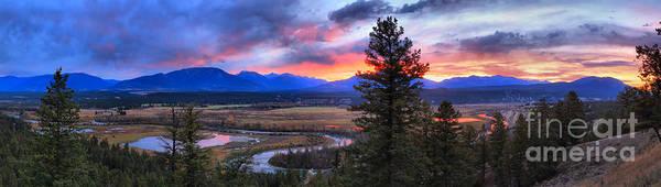 Photograph - Alberta Columbia Wetlands Sunset Panorama by Adam Jewell