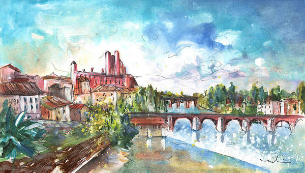 Wall Art - Painting - Albi Panoramic View by Miki De Goodaboom