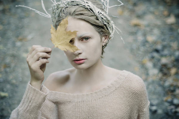 Photograph - Albino In Forest. Prickle Tenderness by Inna Mosina