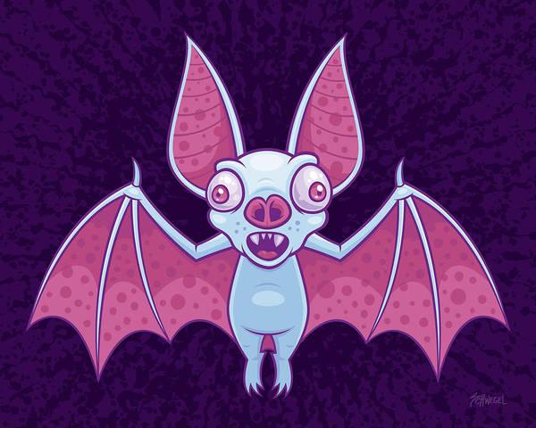 Flight Digital Art - Albino Vampire Bat by John Schwegel