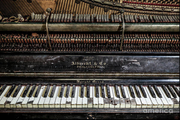 Grand Piano Photograph - Albrecht Company Piano by Stacey Granger
