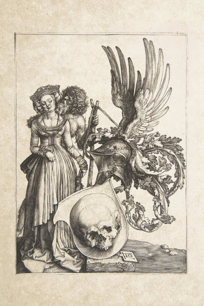 Digital Art - Albrecht Durer - Coat Of Arms With A Skull by Serge Averbukh