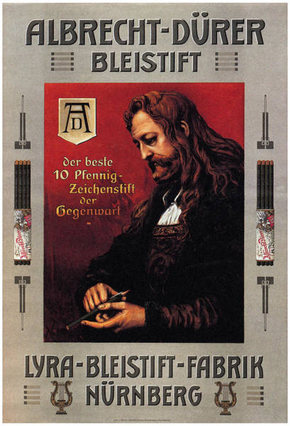 Product Mixed Media - Albrecht Durer - Bleistift- Pencils - Vintage Advertising Poster by Studio Grafiikka