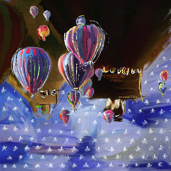 Mall Painting - Albuquerque International Balloon Fiesta 5 256 1 by Mawra Tahreem