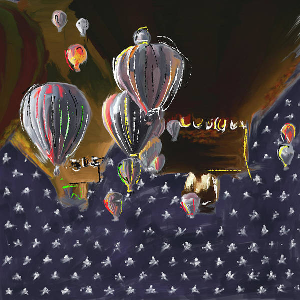 Mall Painting - Albuquerque International Balloon Fiesta 5 256 3 by Mawra Tahreem