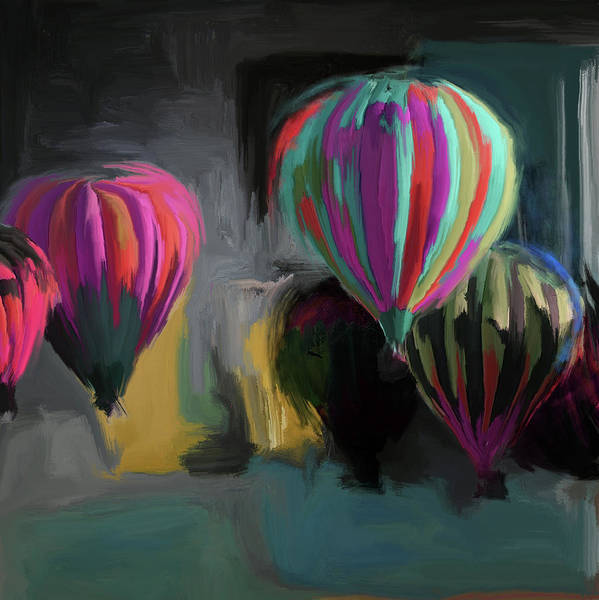 Mall Painting - Albuquerque International Balloon Fiesta 5 257 1 by Mawra Tahreem